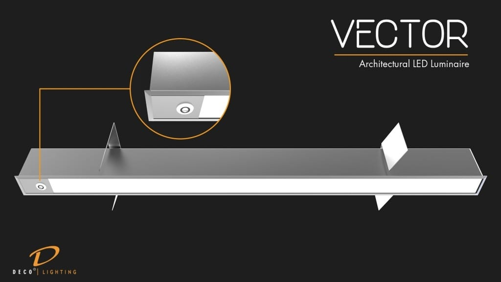 Vector LED Luminaire with Sensors