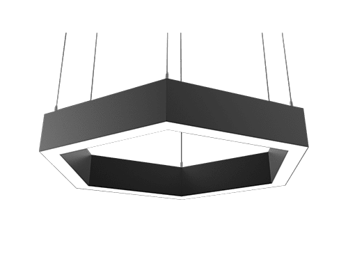 Vector hex architectural pendant luminaire indoor architectural